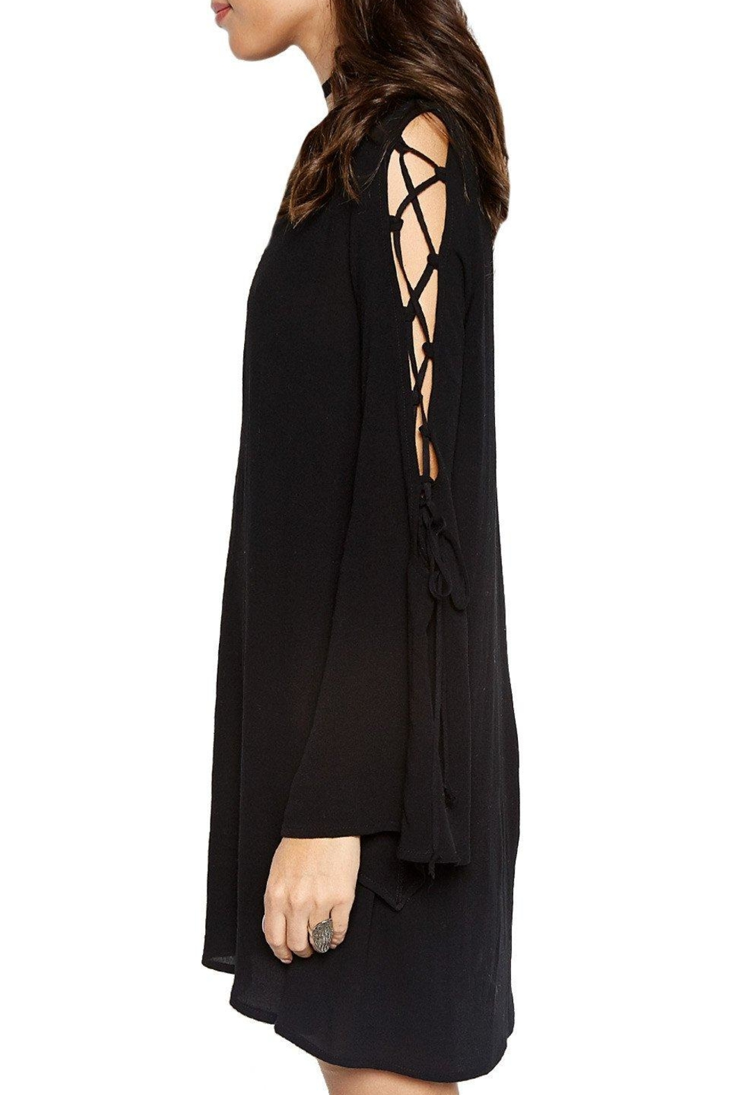 Michael Lauren Lace Up Bell Sleeve - Side Cropped Image