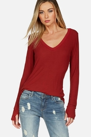 Michael Lauren Otis L/s Ribbed - Front cropped