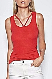 Michael Lauren Red Cut Out Tank - Product Mini Image