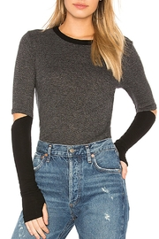Michael Lauren Split-Elbow Color-Block Top - Product Mini Image