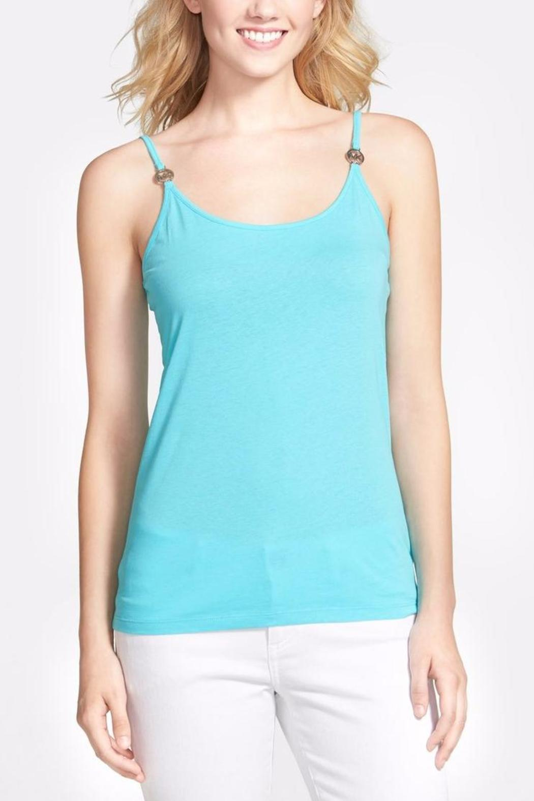 MICHAEL Michael Kors Logo Medallion Camisole - Front Cropped Image