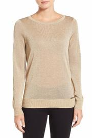 MICHAEL Michael Kors Metallic Drape Back Sweater - Product Mini Image