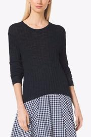 MICHAEL Michael Kors Ribbed Cotton-Blend Sweater - Product Mini Image