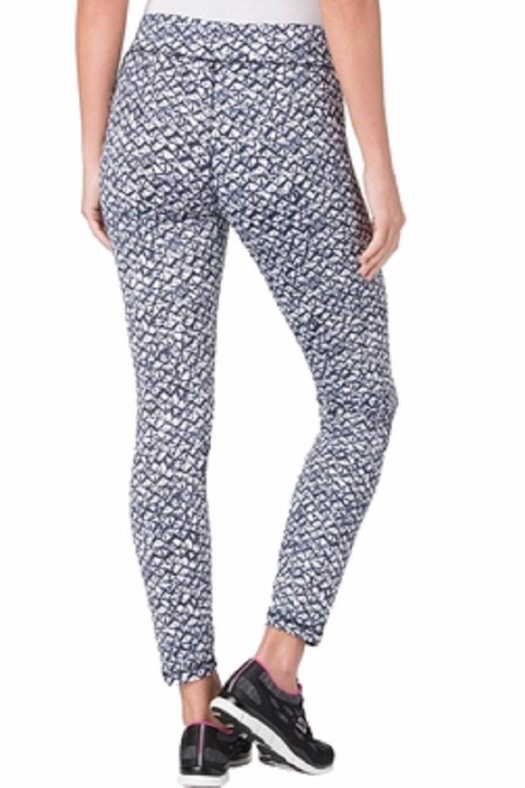 MICHAEL Michael Kors Tied Batik Print Leggings - Side Cropped Image