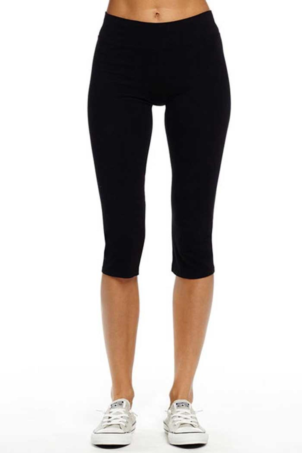 Michael Stars Black Cropped Leggings - Front Cropped Image