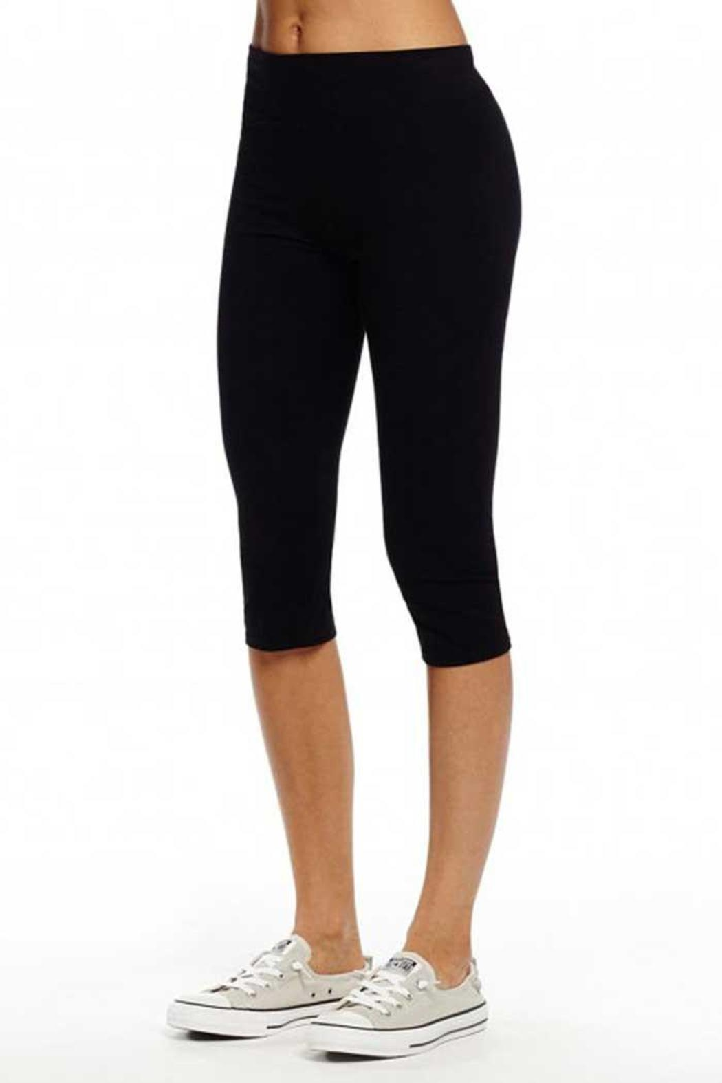 Michael Stars Black Cropped Leggings - Side Cropped Image