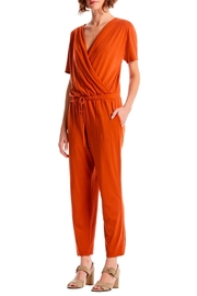 Michael Stars Chelan Surplice Jumpsuit - Front full body