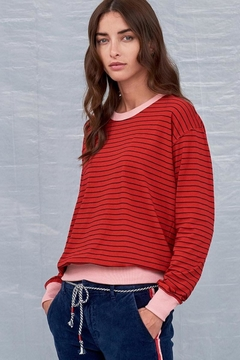 Sundry Colorblock Cuff Top - Alternate List Image
