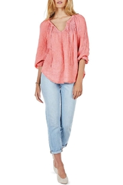 Michael Stars Coral Peasant Top - Product Mini Image