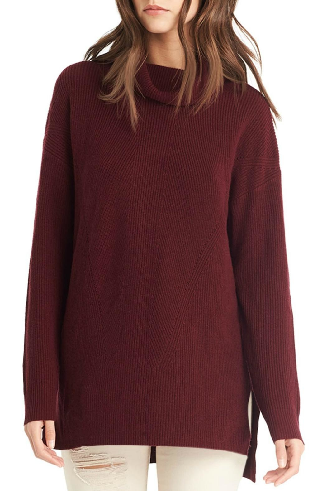 Michael Stars Cowl Neck Sweater - Side Cropped Image