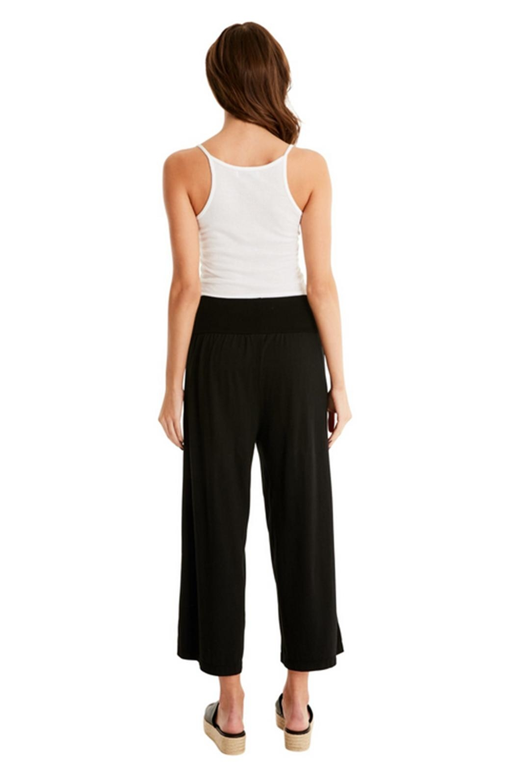 Michael Stars Cropped Elastic Culottes - Back Cropped Image