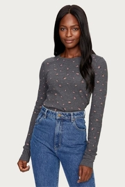 Michael Stars Floral Charcoal Thermal - Front cropped
