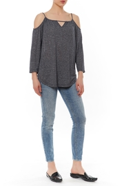 Shoptiques Product: Cold Shoulder Tee - Front cropped