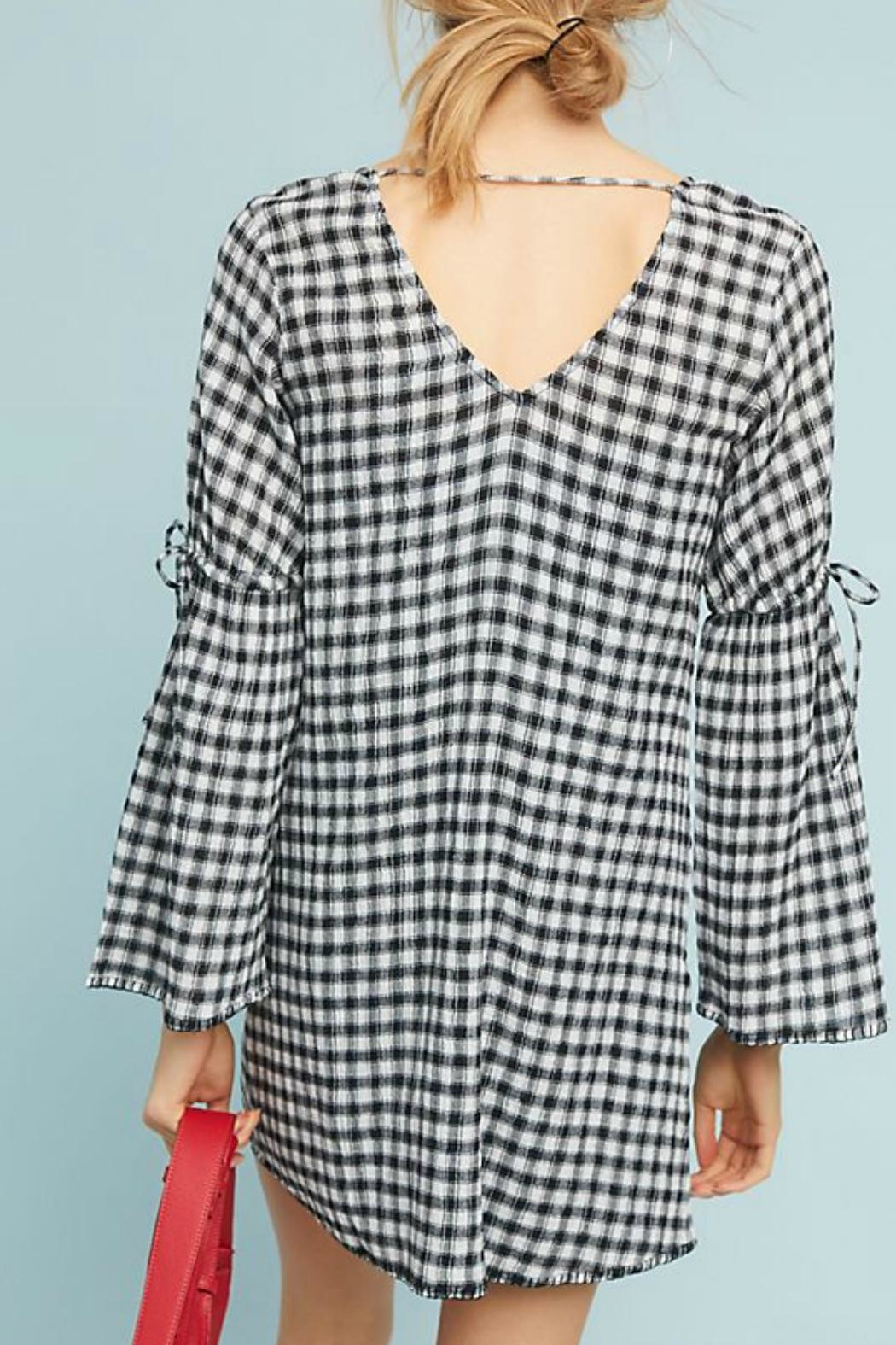 Michael Stars Gingham Gauze Shift-Dress - Side Cropped Image