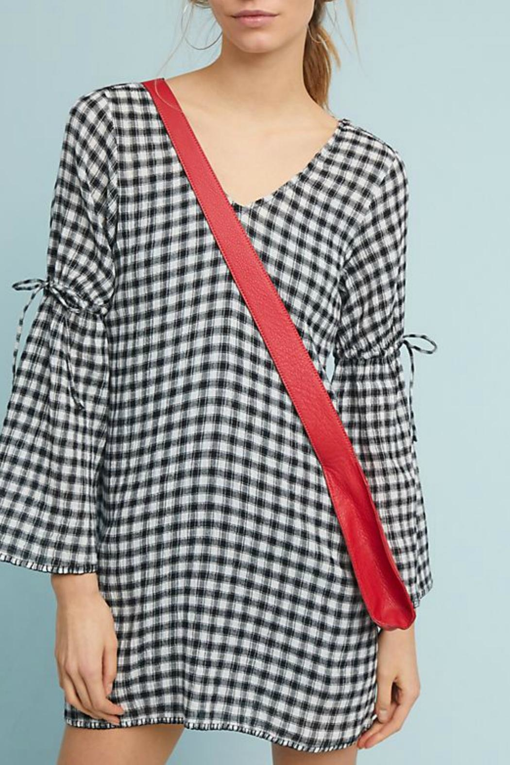 Michael Stars Gingham Gauze Shift-Dress - Front Cropped Image