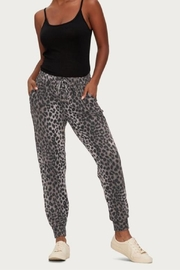 Michael Stars Leopard Print Jogger - Front cropped