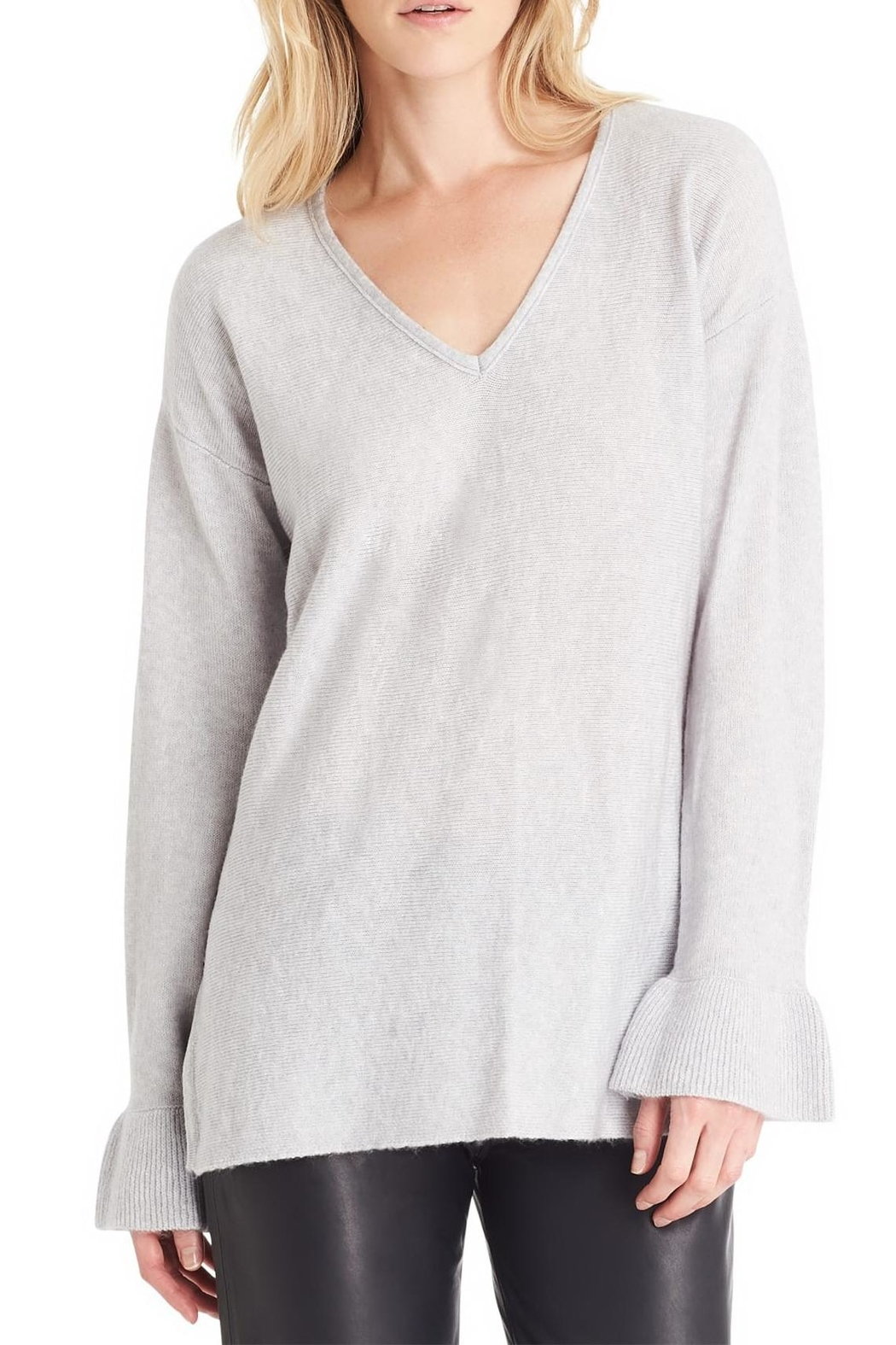 Michael Stars Gray Loose Sweater - Side Cropped Image