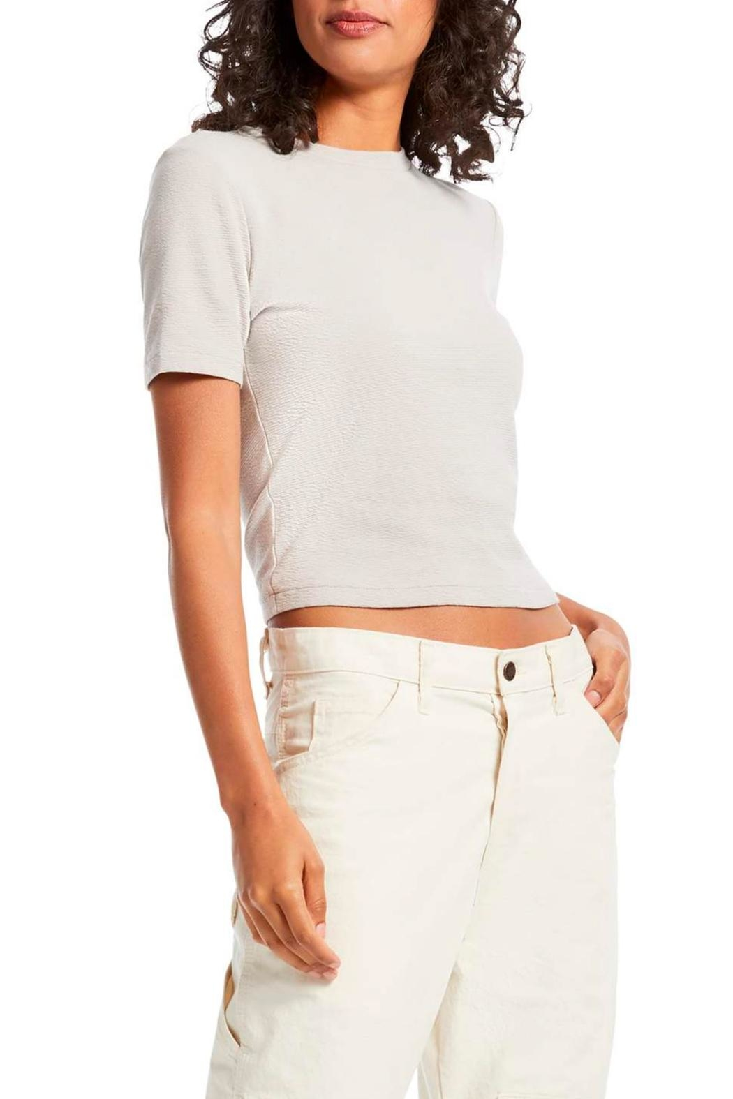 Michael Stars Mila Cropped Tee - Front Full Image