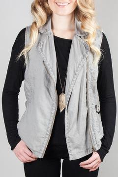 Shoptiques Product: Grey Moto Vest