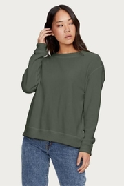 Michael Stars Reversible Matcha Pullover - Front cropped