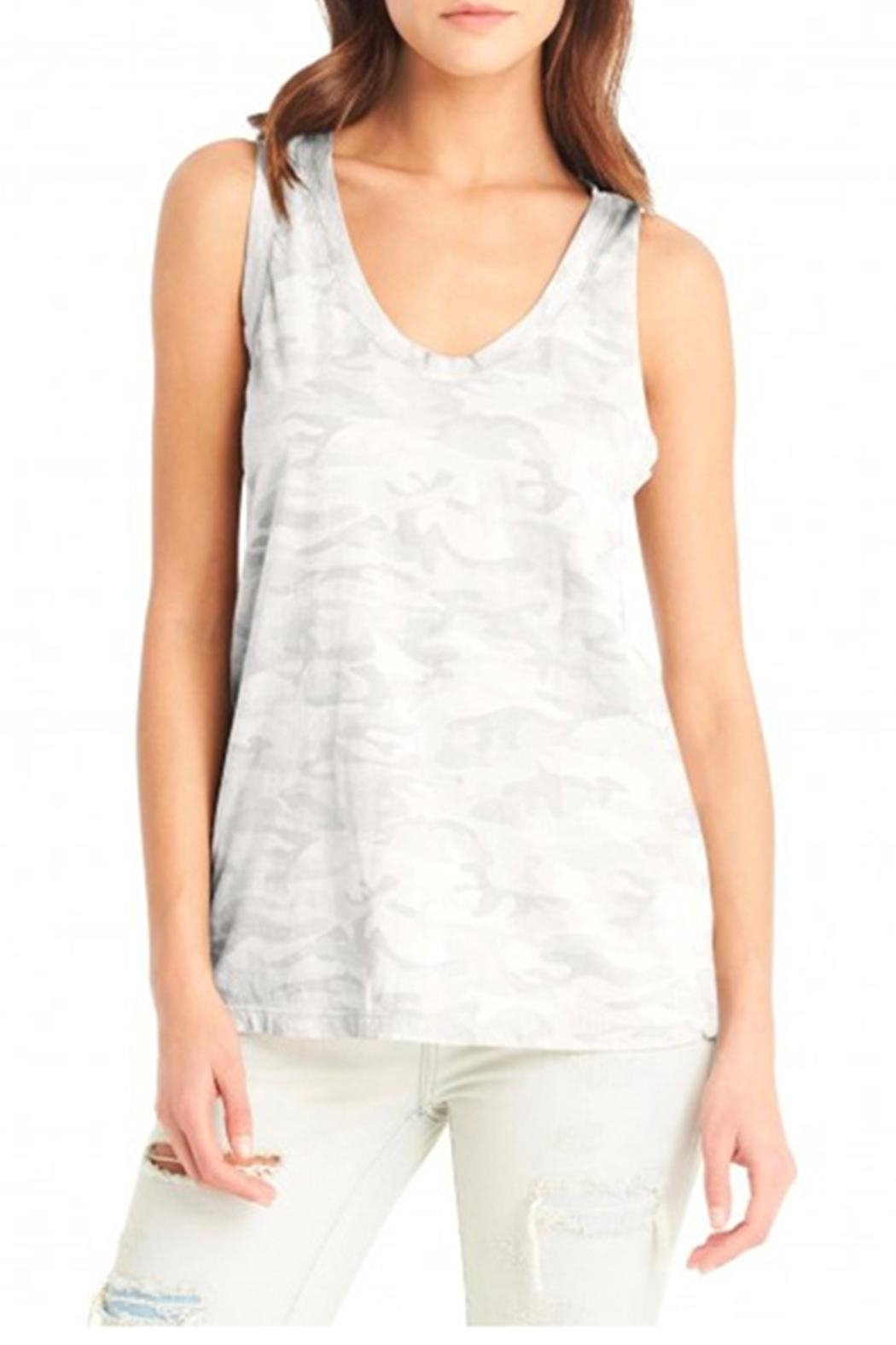 Michael Stars Scoop Camo Tank - Front Cropped Image