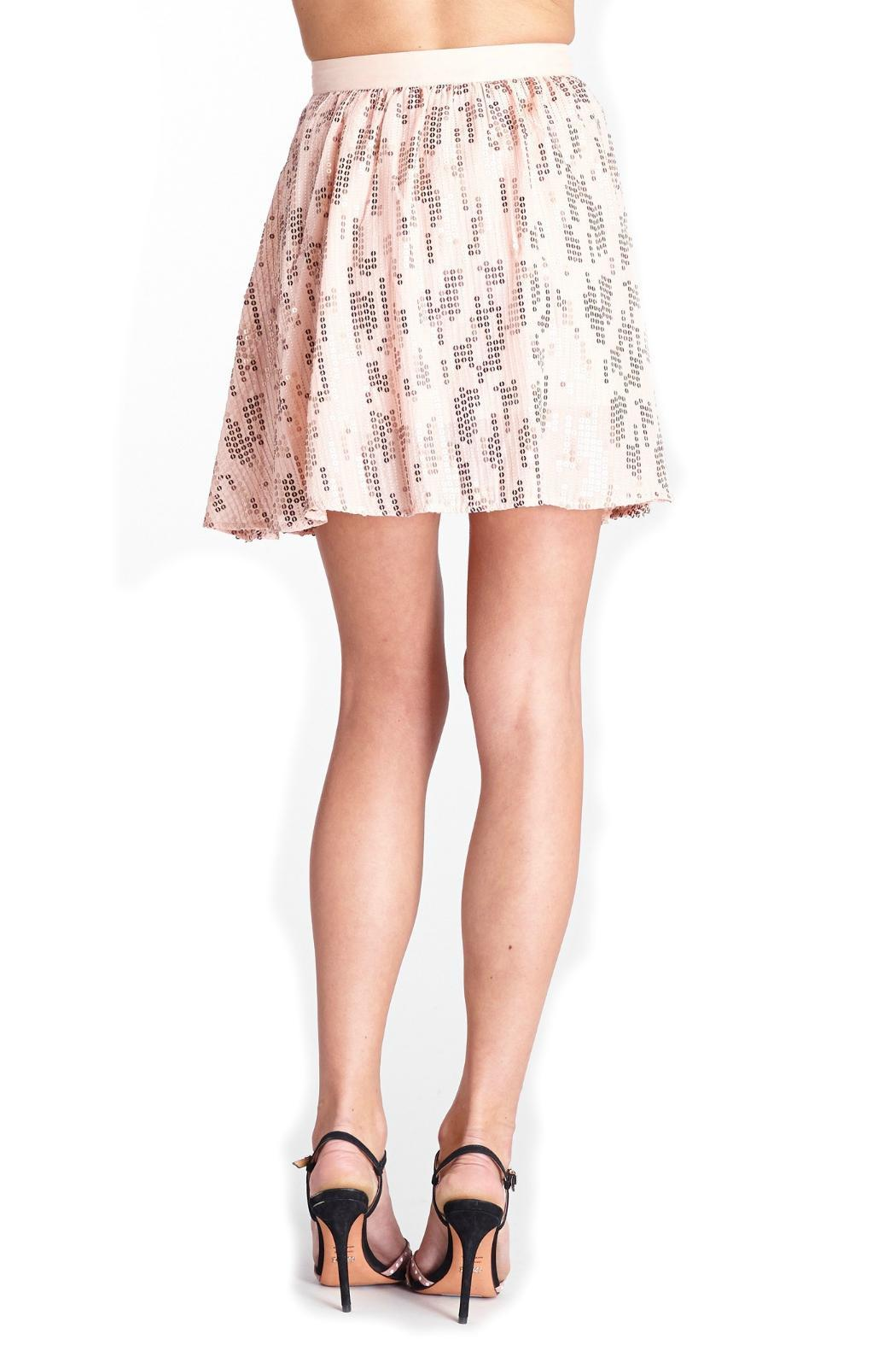 Michael Stars Sequin Silk Skirt - Side Cropped Image