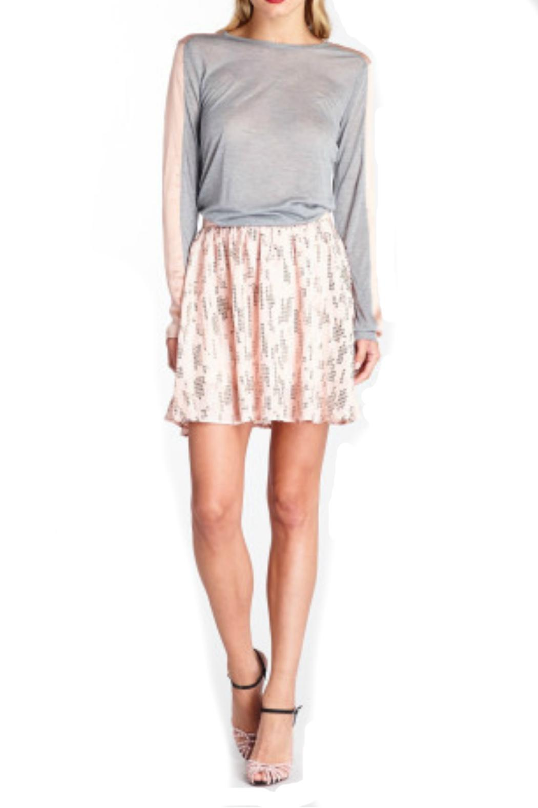 Michael Stars Sequin Silk Skirt - Front Full Image