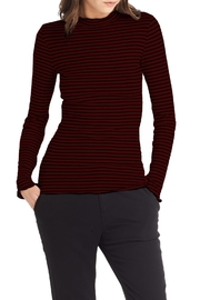 Michael Stars Stripe Mock Neck Top - Product Mini Image