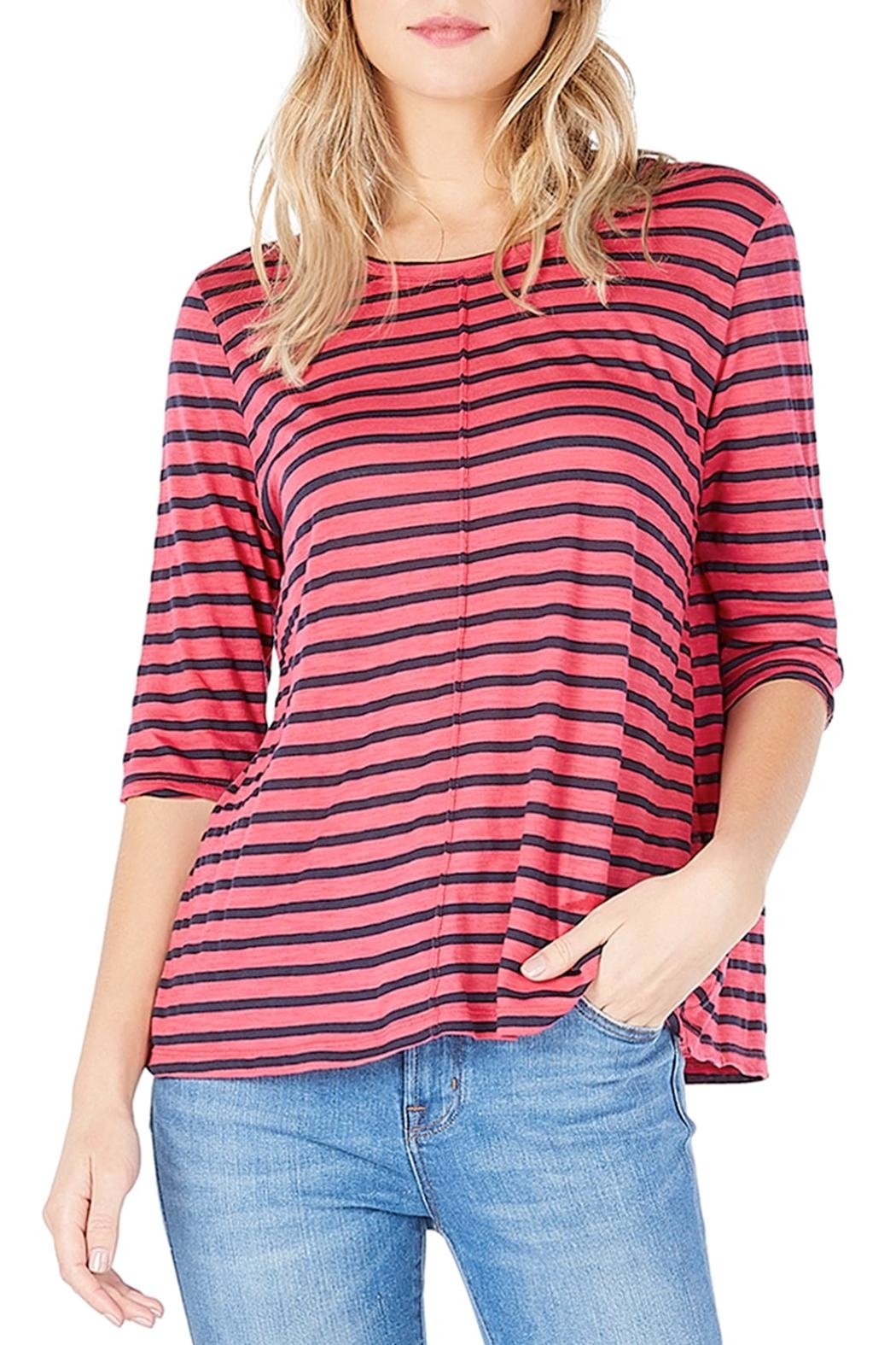 Michael Stars Striped Swing Tee - Front Cropped Image