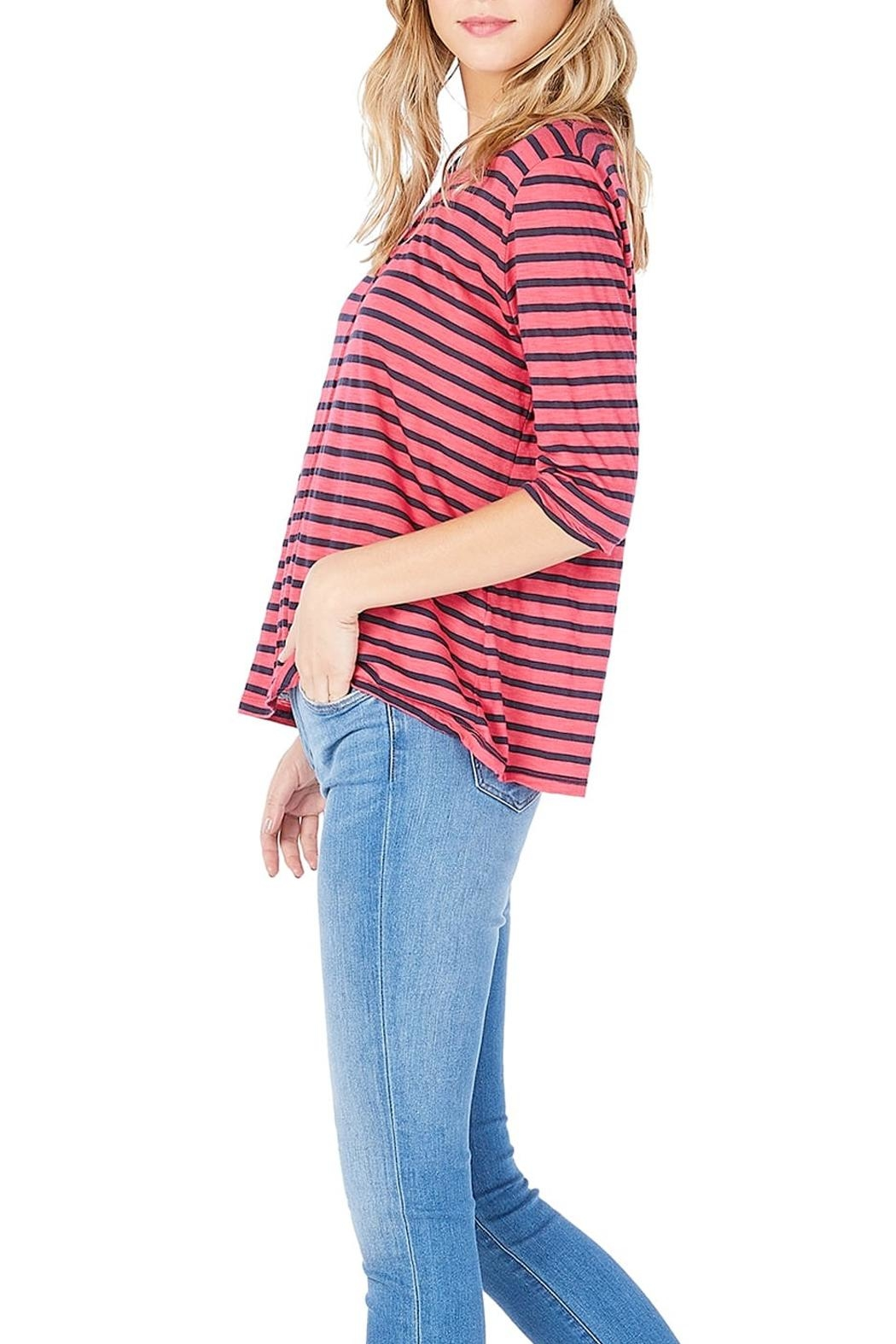 Michael Stars Striped Swing Tee - Side Cropped Image