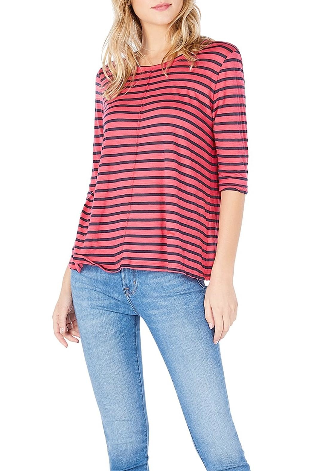 Michael Stars Striped Swing Tee - Front Full Image