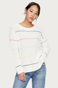 Michael Stars Stripped Pullover Sweater - Alternate List Image