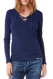 Michael Stars Thermal Lace Up Top - Product Mini Image