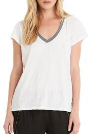 Michael Stars Contrast V Neck Tee - Product Mini Image