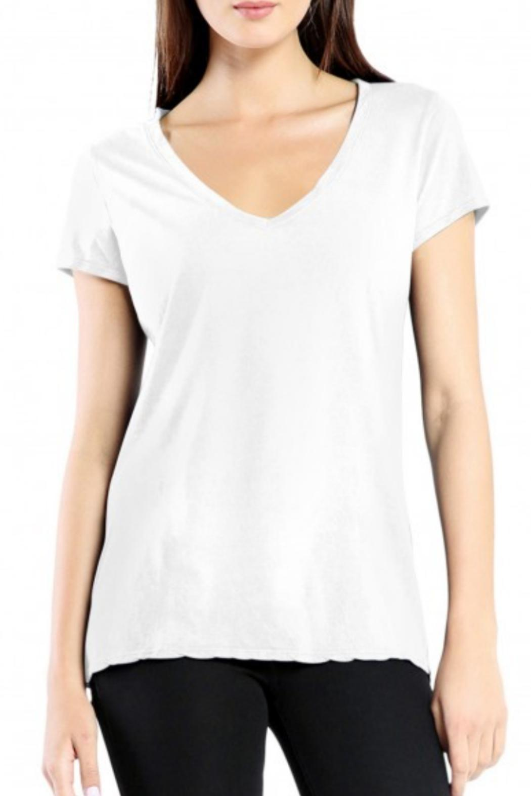 Michael Stars V-Neck Tee - Front Cropped Image