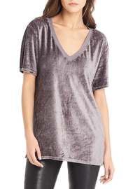 Michael Stars Velour V Neck Top - Product Mini Image