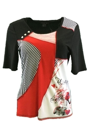 Michael Tyler Collections Black/red Top - Product Mini Image