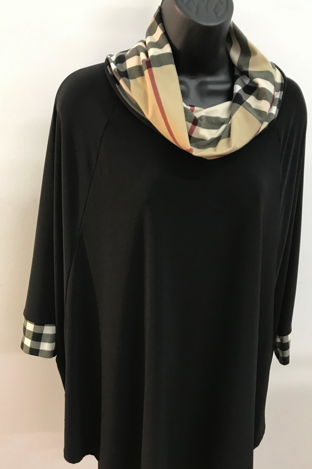 Michael Tyler Collections Black Tunic Top - Main Image