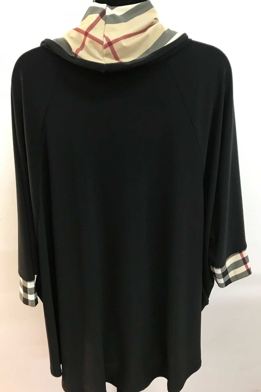 Michael Tyler Collections Black Tunic Top - Front Full Image