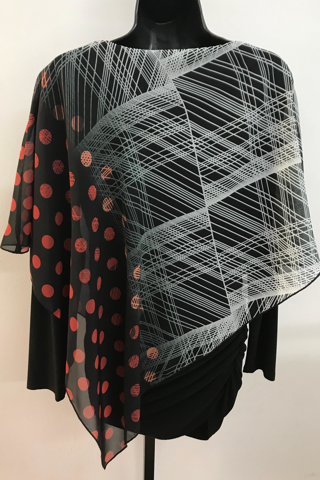 Michael Tyler Collections Cascading Cape Top - Front Full Image