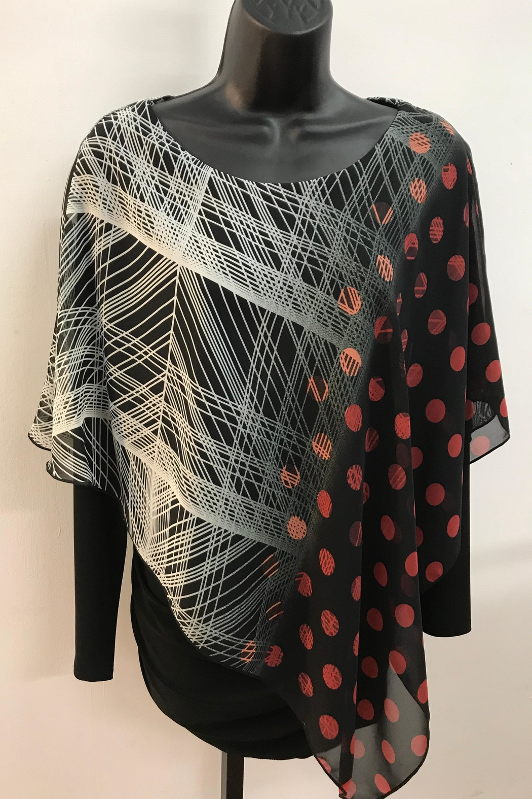 Michael Tyler Collections Cascading Cape Top - Main Image