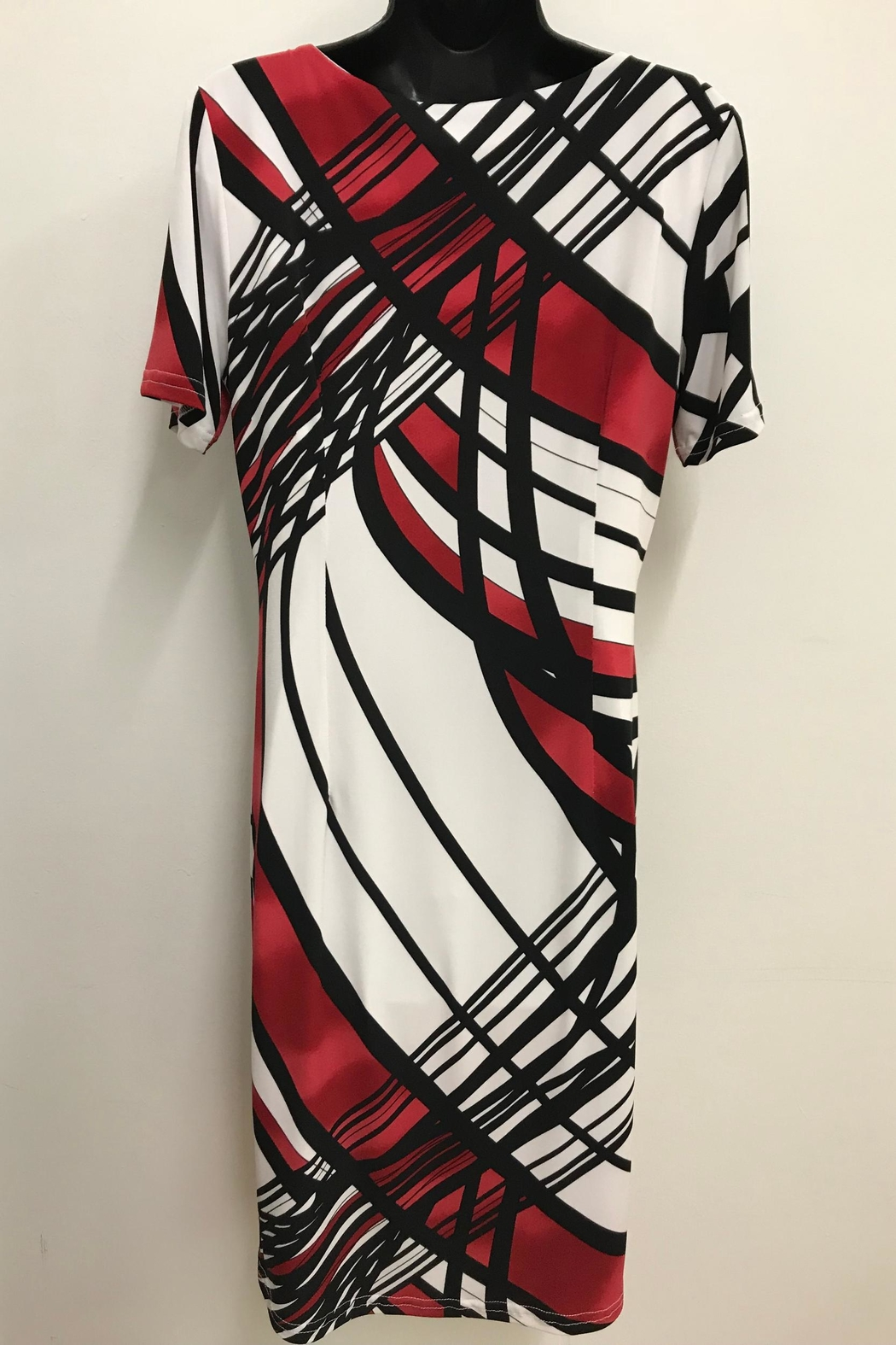 Michael Tyler Collections Graphic Print Dress - Front Full Image