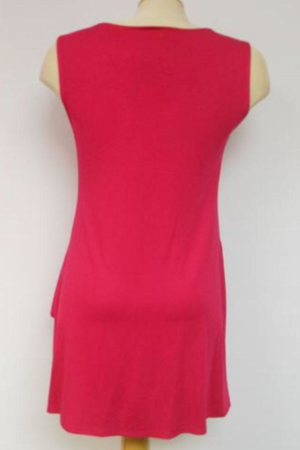 Michael Tyler Collections Pink Sleeveless Tunic - Front Full Image