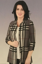 Michael Tyler Collections Plaid Button Up Blouse - Product Mini Image