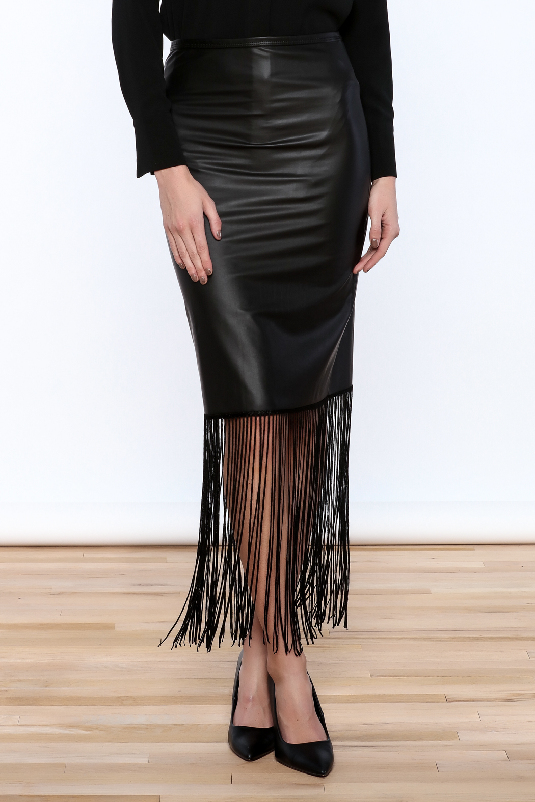 Michaela Faux Leather Fringe Skirt from Florida by Leah & Pearl ...