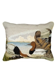 Michaelian Home Canvasback Needlepoint Pillow - Product Mini Image