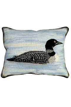 Shoptiques Product: Loon Needlepoint Pillow