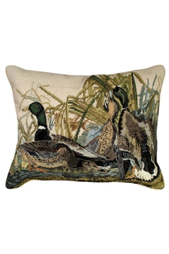 Shoptiques Product: Mallard Needlepoint Pillow
