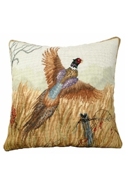 Michaelian Home Pheasant Needlepoint Pillow - Product Mini Image