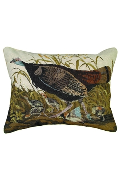 Shoptiques Product: Turkey Hen Needlepoint Pillow
